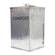 Tacho De Zinc 10l Para Orgánicos Del Compost Rama Somos