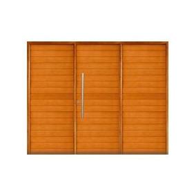 Portón Garage Madera Grandis Oblak M-2331 Corredizo M/m 2.40