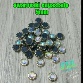 Cristal De Swarovski Con Base Metálica 5mm
