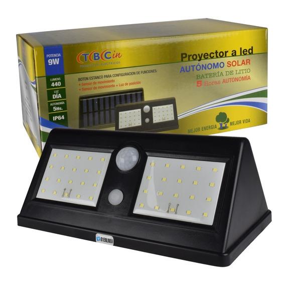 Aplique Reflector Solar Led Recargable 55 Leds Autonómo Exterior Blanco Frio Ajavision