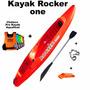 Kayak Rocker One + Pita + Silbato + Remo + Chaleco