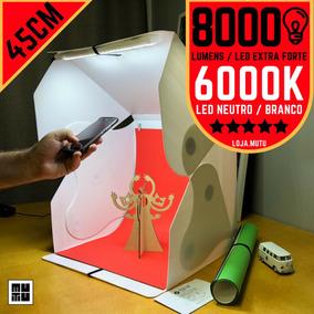 Mini Studio Portátil Tipo Caixa Branca De 45cm Cm Luz De Led
