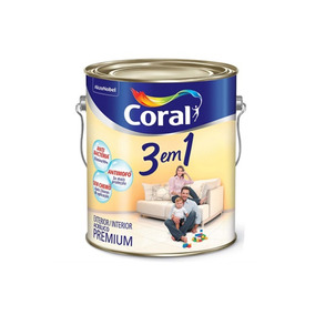 Tinta Látex 3 Em 1 Branco 3,6 Litros