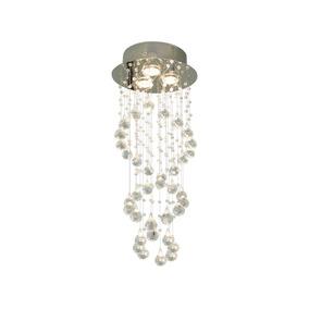 Candil Decorativo Cristal En Cascada 3 Luces Gz10