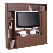 Modular Rack Tv Led Lcd Platinum 5570 Melamina Cuotas