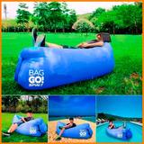 Sillón Playa Reposera Bolsa De Aire Spinit Bag Go 4 Colores