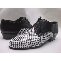 Zapatos Trenzados En Cuero -hechos A Mano