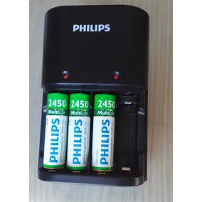 Carregador De Pilhas Philips Scb1485nb 3 Pilhas Aa Leia