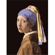 Pintura Numerada Moça Com Brinco De Pérola Johannes Vermeer