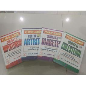 4 Libros Artritis, Diabetes, Colesterol, Hipertensión 4 Pack