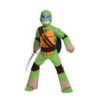 Disfraz Tortugas Ninja Leonardo 4/6 Años Original Entrega In