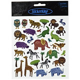 Multi-colored Stickers-jungle Animals