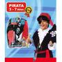 Disfraz Set Pirata Con Accesorios Cotillón Fiesta Cumpleaños