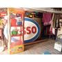 Expositor De Lata De Óleo Antiga Garagem Bar Temático Antigo