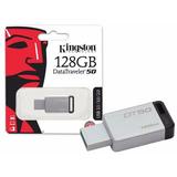 Pen Drive 128gb Kingston Usb 3.1 Dt50/128 Metal Original