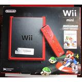 Consola De Vídeo Juego Wii Mini Roja Original Más 3 Juegos