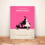 Pôster Casal Moto Roman Holiday C/frete Placa A3 #pdv066a0