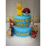 Torta Pokemon Cupckaes Galletas Maqueta