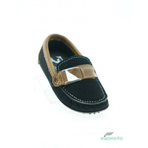 Zapato Casual Para Niño Nobuck Negro Avellana Marca Albertt