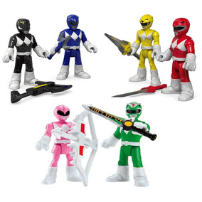 Power Rangers Kit Coleção 6 Power Rangers Go Go - Imaginext