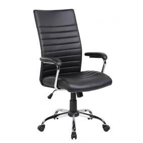 Cadeira De Escritório Presidente Pelegrin Pel-9023h Couro Pu