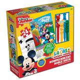 Rompecabezas Doble Vista Con Crayones Disney Caja Carton
