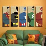Nuevo! Juego Cuadros Vintage Superheroes Superman Batman