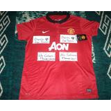 Jersey Manchester United Dama Mujer 2013-2014 Nike Original