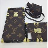 Capa Couro Luxo Lv Louis Vuitton Iphone 6 7 8 Plus + Brinde