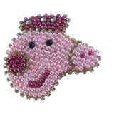 Bico De Pato Peppa Pig Bordada Com Pérolas E Strass