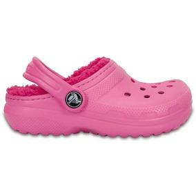 Crocs Originales Classic Lined Clog K Rosa Niñas 6la