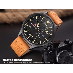 Relógio Masculino Naviforce 9074 Pulseira De Couro