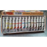 Pintura Al Oleo Marca Iteca 14 Colores De 12cc