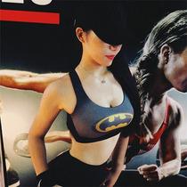 Top Deportivo Mujer Gym, Superheroes, Crossfit, Yoga