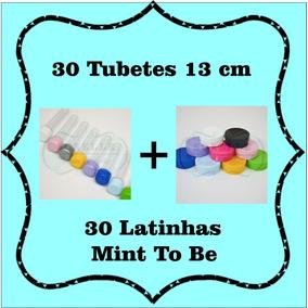 Kit Lembrancinhas 30 Tubetes + 30 Latinhas Mint To Be