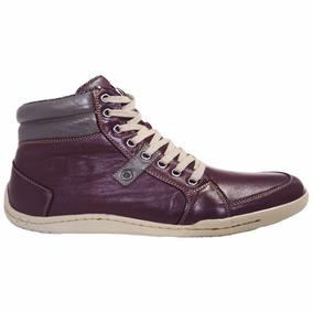 Sapatenis Bota Shoes Grand Lona Vinho Tamanho Grande