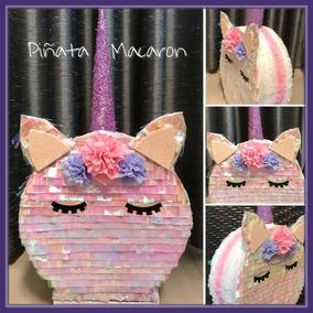 Mini Piñata Macaron Unicornio