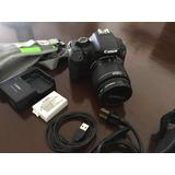 Camara Canon Eos Rebel T2i Con Cargador, Pila, Strap Y Funda