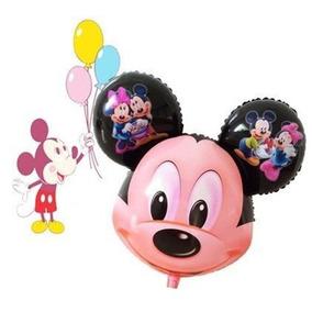 Balão Metalizado Mickey 60x50cm - Kit C/ 10 Balões