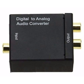 Conversor Audio Optico Digital Fibra/coaxial P/rca Analogico