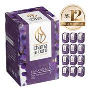 12 Velas Perfumadas Aromáticas Aroma De Lavanda 60 Gramas