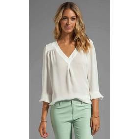Camisa Mujer Blanca Seda
