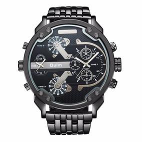 Reloj Caballero Oulm Ht3548 4 Zonas Horarias