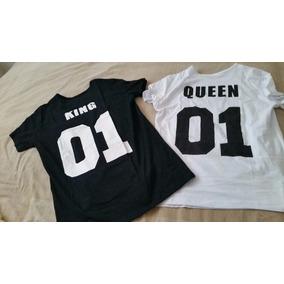 Camiseta Da Rainha Do Rei 01 Engraçado Dos Namorados Casais