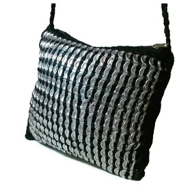 Bolsa De Crochê Com Lacre De Latinhas De Alumínio
