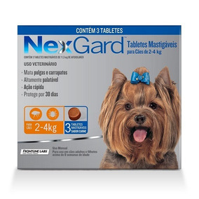 Antipulgas E Carrapatos Para Cães Nexgard 2-4kg C/ 3 Tablete