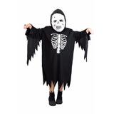 Fantasia Caveira Esqueleto Infantil Halloween,dia Das Bruxas
