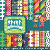 Kit Imprimible Equipo Umizoomi Pack Digital Fondos Clipart