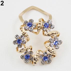 Dama Girl Lujo Elegante Diamante De Imitación Flor Guirnald