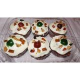 Torta Negra Y Ponquesitos De Navidad Regalar Fiestas Reunion